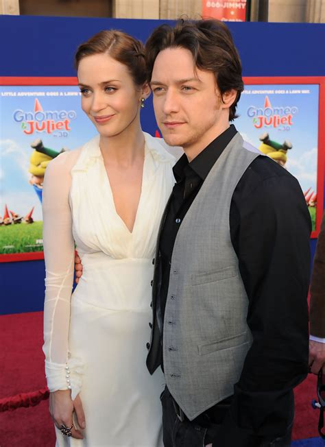 james mcavoy emily blunt emily blunt in premiere of touchstone pictures quot gnomeo