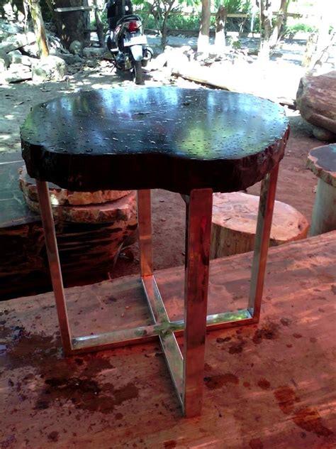 Batu Telur Pertified Wood Es 38 gokugen net meja bangku kayu fossil