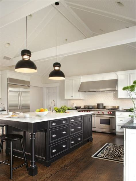 white kitchen black island white cabinet black island houzz