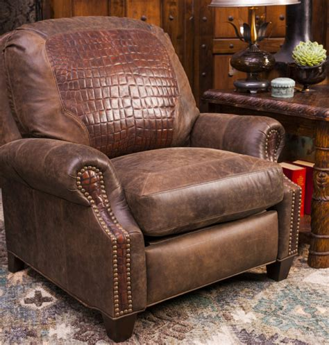 western leather recliner gator inset recliner brumbaugh s fine home furnishings