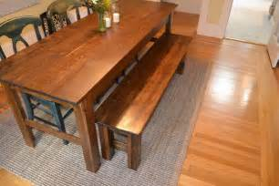 woodwork farmhouse table and bench plans pdf plans