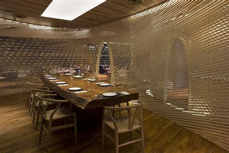 Restaurant Dividers Design Ideas by Unconventional Shapes In Marine Themed Restaurant Interior Design Mindful Design Consulting