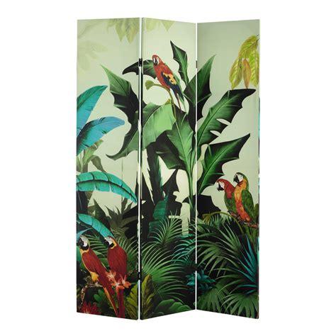 Tropical L by Paravent Imprim 233 Tropical L 121 Cm Santana Maisons Du Monde