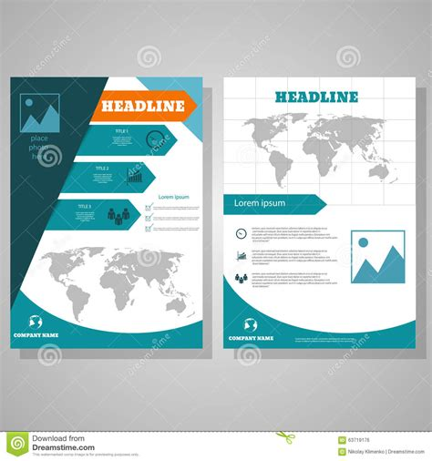 id layout design template brochure flyer design layout template size a4 stock