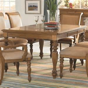 American Drew Dining Room Furniture Island Inspired Rectangular Turned Leg Dining Table With