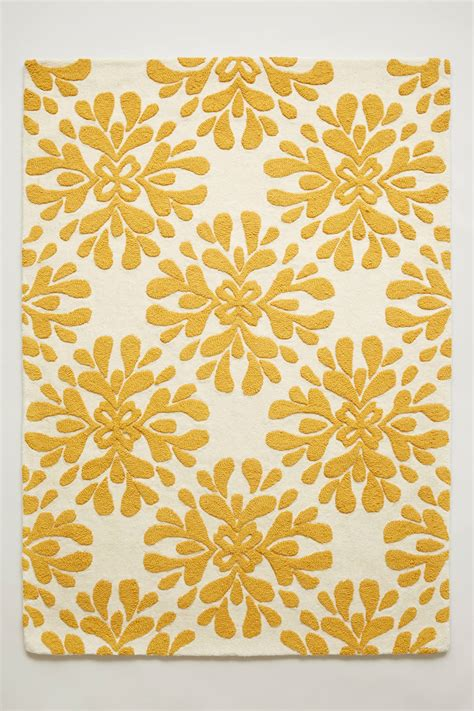 yellow flower rug yellow coqo floral rug decor by color