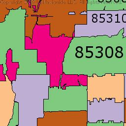 zip code map glendale az map of arizona zip codes my blog