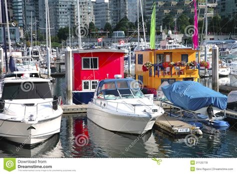 party boat vancouver bc boat houses in downtown vancouver bc canada royalty free