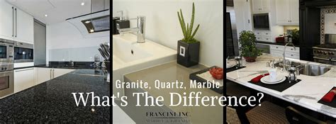 What Is The Difference Between Quartz And Granite Countertops by Francini Francini Marble Granite Quartz