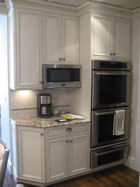kitchen corner double ovenwarming tray trim work