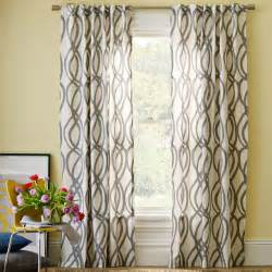 Contemporary Window Curtains Scribble Window Panel Feather Gray Contemporary