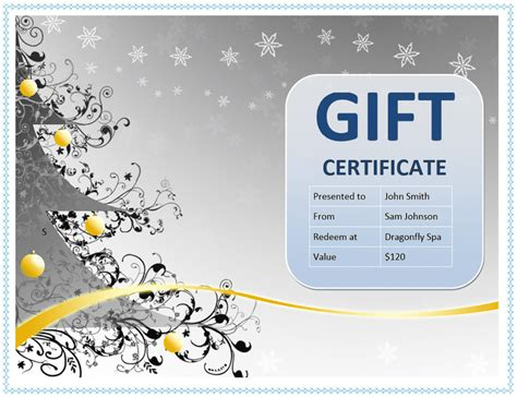 gift certificate template free microsoft word anuvrat info