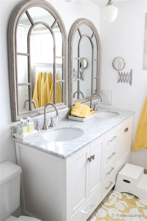 Double Bathroom Vanity Ideas remodelaholic updated bathroom single sink vanity to double sink