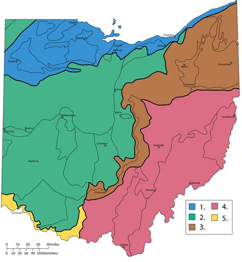 map of ohio regions file geographic regions ohio with numbers svg wikimedia