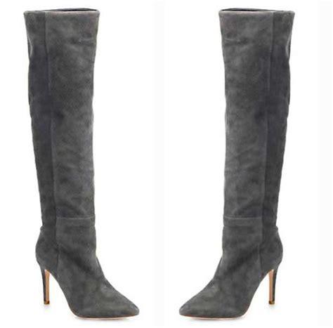 joie grey suede the knee boots gt shoeperwoman