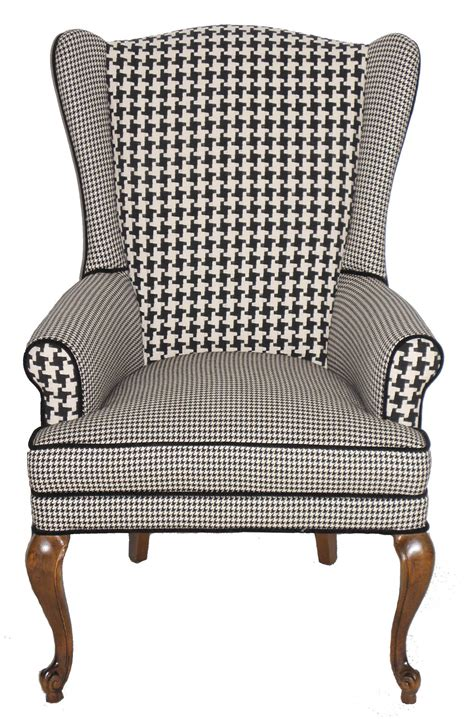 upholstery ideas for wing chairs reserved for christina houndstooth wingback armchair vintage