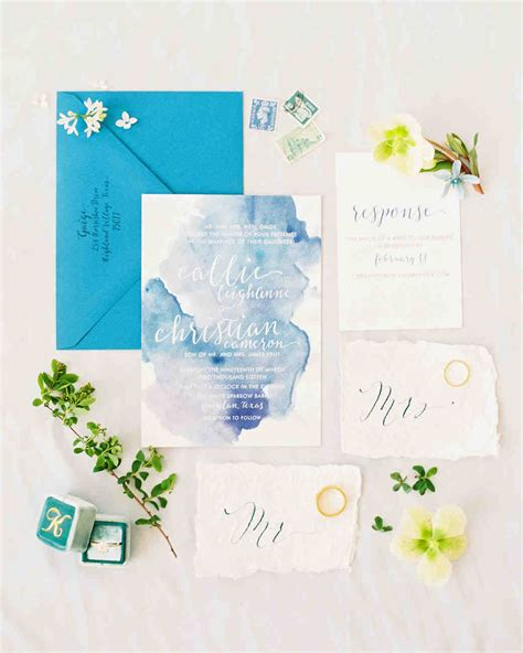 Wedding Invitations Watercolor by The Loveliest Watercolor Wedding Invitations Martha