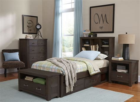 Bookcase Bedroom Set by Highlands Espresso Bookcase Youth Storage Bedroom Set