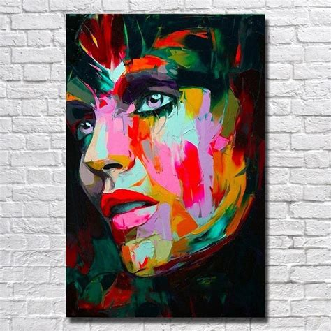 abstract face painting  canvas living room wall decor