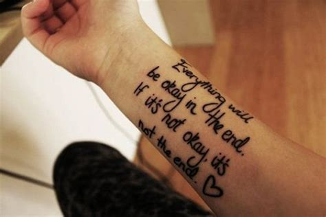 cool tattoo inspiration 43 wonderful quote wrist tattoos