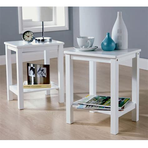 pine side tables living room modern pair of l table bedside end side tables solid