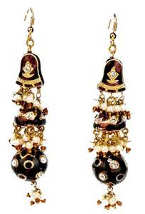 earrings india indian lac enamel jewellery mixed drop earrings pictures 6