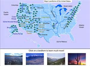 united states map landforms united states landforms
