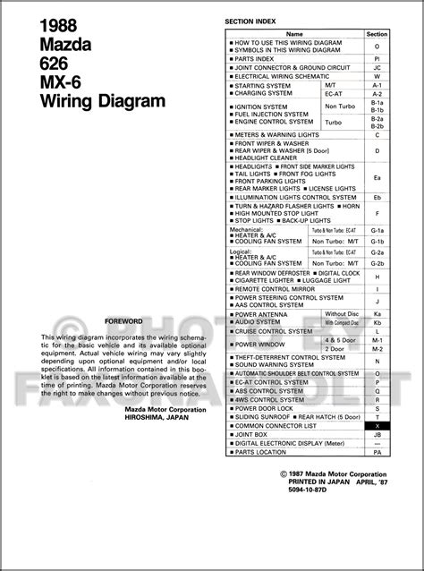 mazda mx6 wiring diagram wiring diagram manual