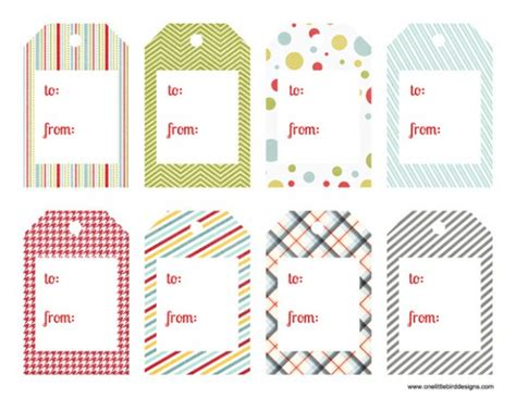 dltk printable gift tags one little bird christmas printable gift tags
