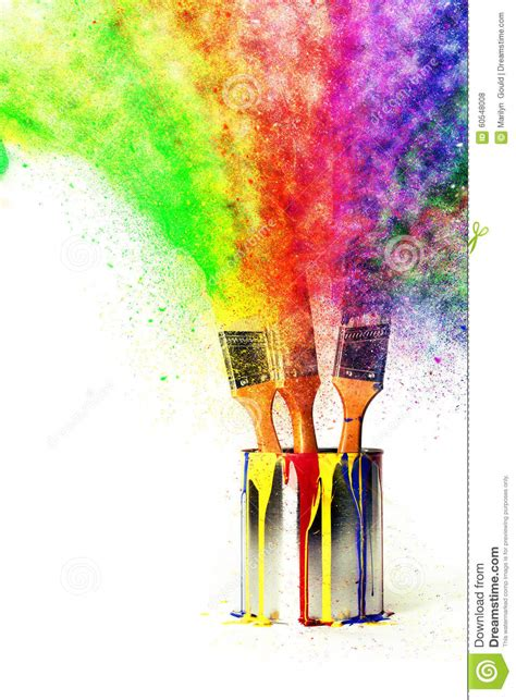 rainbow of colors from primary colors stock illustration image 60548008