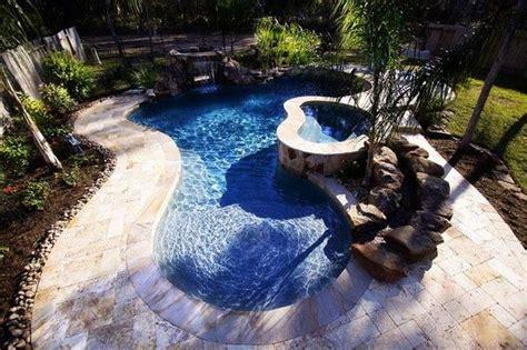 Backyard River Design by Triyae Small Backyard Lazy River Pools Various