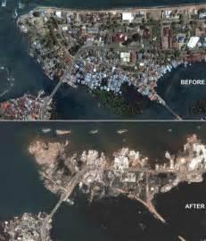 tsunami vorher nachher tsunami hazards