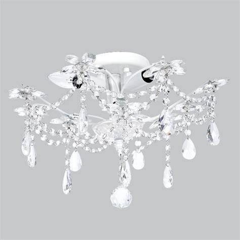 chandelier ceiling mount ceiling mount chandelier white