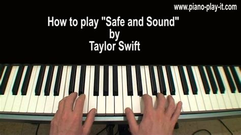 tutorial piano taylor swift safe and sound piano tutorial taylor swift youtube