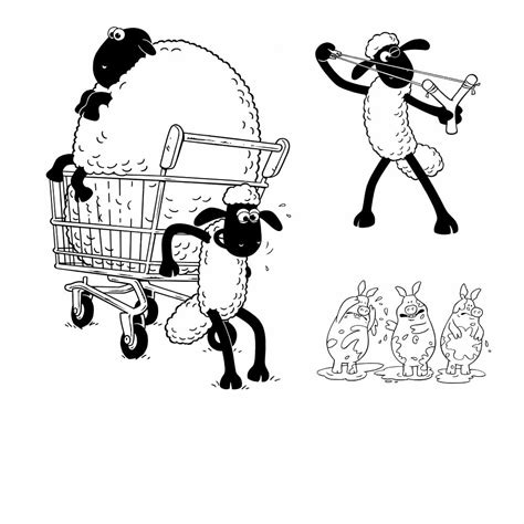 shaun the sheep coloring pages activity kids free