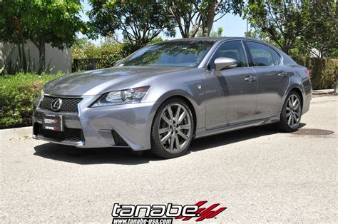 lexus gs350 f sport lowered tanabe usa r d blog nf210 springs on lexus gs350 f sport
