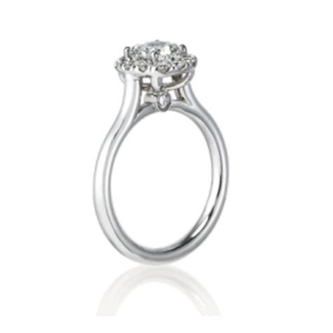 distinctive cushion cut engagement rings