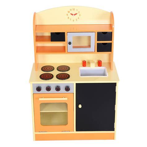 pretend kitchen furniture kitchens 158746 deluxe wooden pink kitchen set