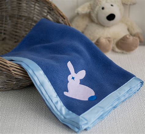 Rabbit Custom Baby Blanket cuddly fleece baby blanket with rabbit by isabee notonthehighstreet