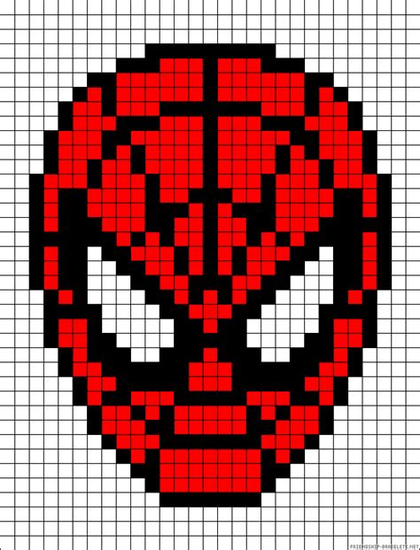 spiderman head pattern a57580 friendship bracelets net