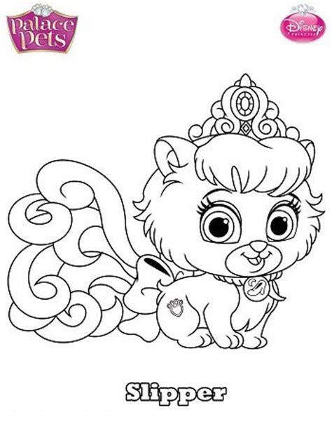Kids N Fun Com Coloring Page Princess Palace Pets Slipper Princess Pets Coloring Pages