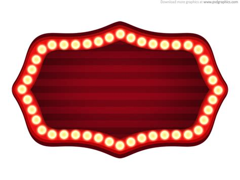 theater sign template psd psdgraphics
