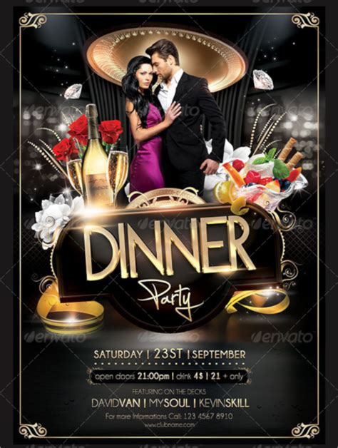 19 Dinner Flyers Sle Templates Dinner Flyer Template