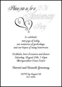 wording for 25th wedding anniversary invitations free anniversary wording for 99 162 silver 25th invitations