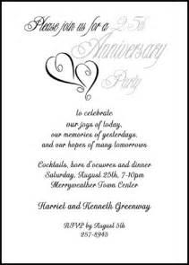 silver wedding anniversary invitations templates free anniversary wording for 99 162 silver 25th invitations