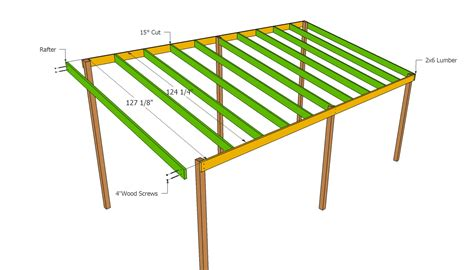 Carport Roof Designs by Wooden Carport Plans Howtospecialist How To Build