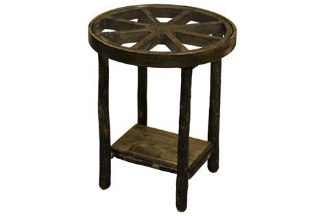 Wagon Wheel Table by Hickory Wagon Wheel End Table Nightstand