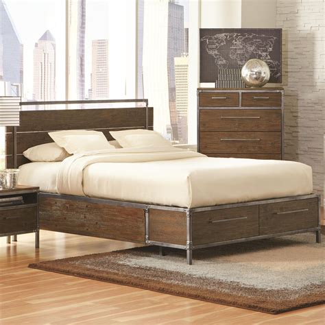 Industrial Bedroom Set by This Edgy Industrial Bed Will Be A Great Focal Point For