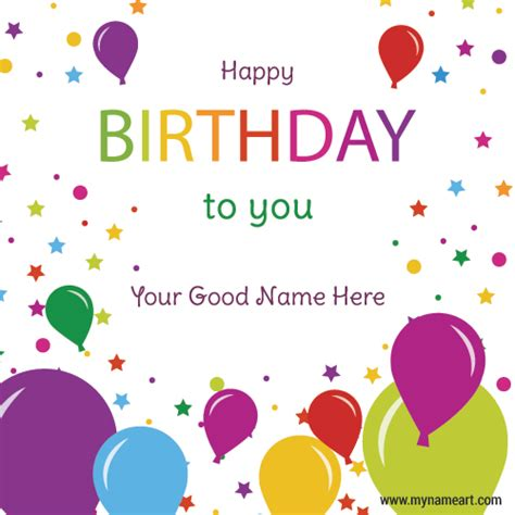 Happy Birthday Wishes With Name Write Name On Friend Birthday Wishes Greeting Card