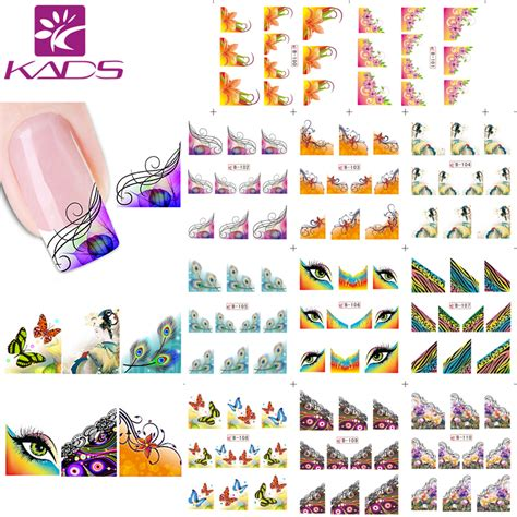 Sticker Water Decal Ble2335 aliexpress buy kads 11sheet set water decal nail stickers decals design nail